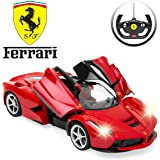 Best Choice Products 1/14 Scale Licensed Remote Control La Ferrari Model RC Car - Red