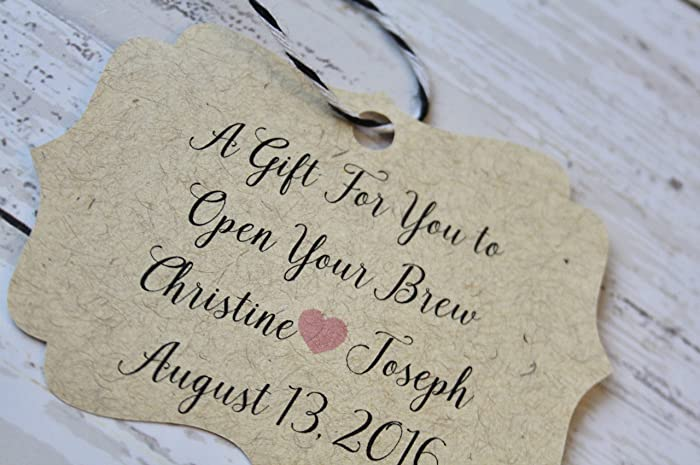 Amazon Com Wedding Favor Tag Bottle Opener Thank You Tags Favor