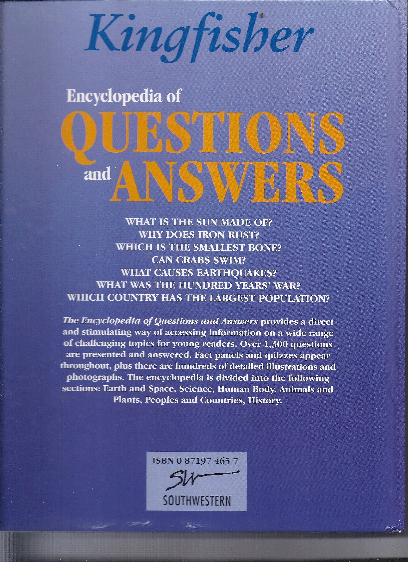 Kingfisher Encyclopedia of Questions and Answers (3 Volume