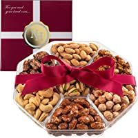 Holiday Christmas Nuts Gift Basket - Fresh Sweet & Salty Dry Roasted Gourmet Nuts Gift Basket - Food Gift Basket for…