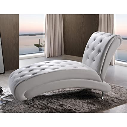 Amazon.com: Premium Contemporary Modern Chaise Lounge ...