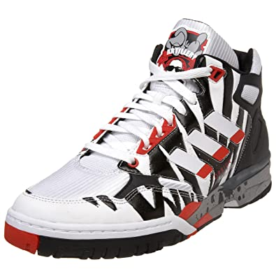 the latest 2e275 16e77 adidas Originals Mens Artillery Mid Sneaker,WhiteBlackPoppy,10.5 M