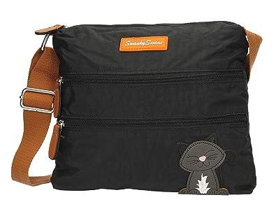 0e71de53ef Riley Womens Ladies Designer Multi Zip Crossbody Side Bag with Lola Cat  Motif - SWANKYSWANS (