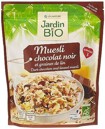 Jardín Bio Muesli Bio al Chocolate y Semillas de Lino - 375 ...