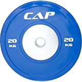 CAP Barbell Olympic Competition Rubber Bumper Plate with Steel Hub (Single), Compatible with 2-Inch Bars