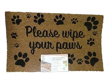 Wipe Your Paws Door Mat Amazoncouk Kitchen Home