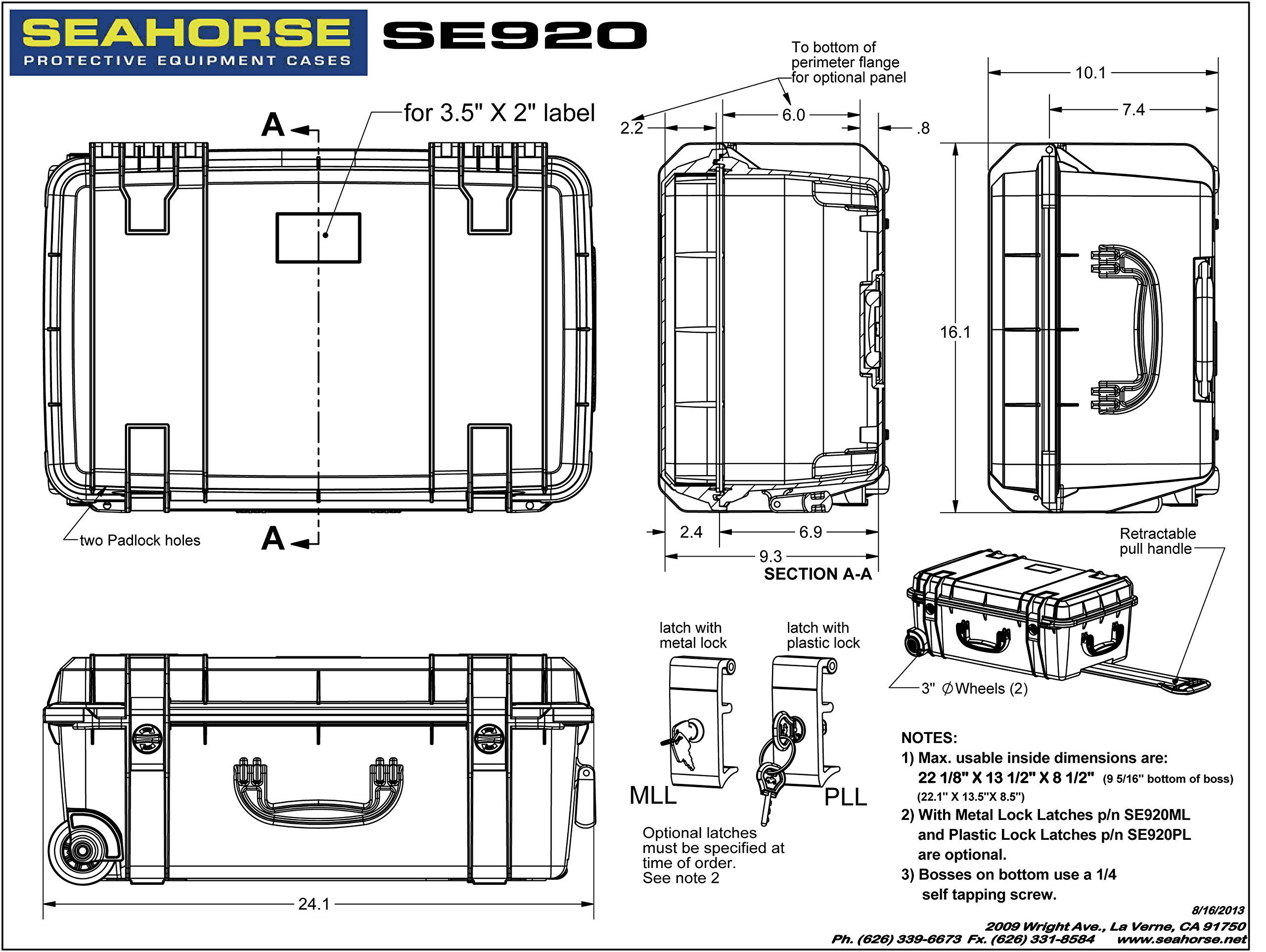 Seahorse 920F Protective Wheeled Case with Foam