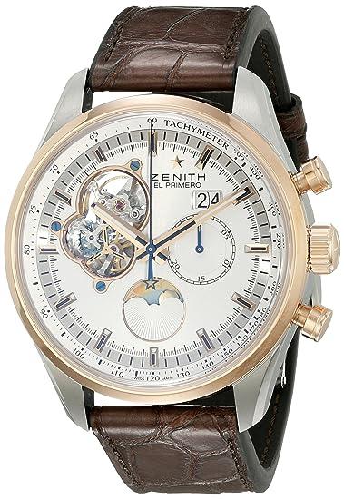 Zenith hombre 5121604047.01 C el primero Pantalla analógica automático suizo marrón reloj