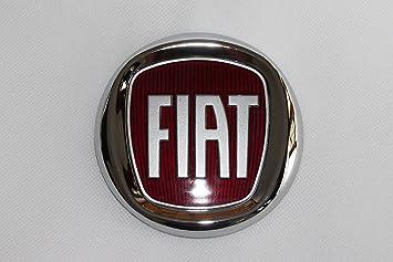 Tapas de llantas con el logo del Fiat Bravo rojo. Diámetro del lado ...