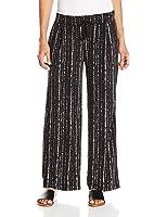 Rafaella Women's Petite Size Textured Stripe Print Wide Leg Pant