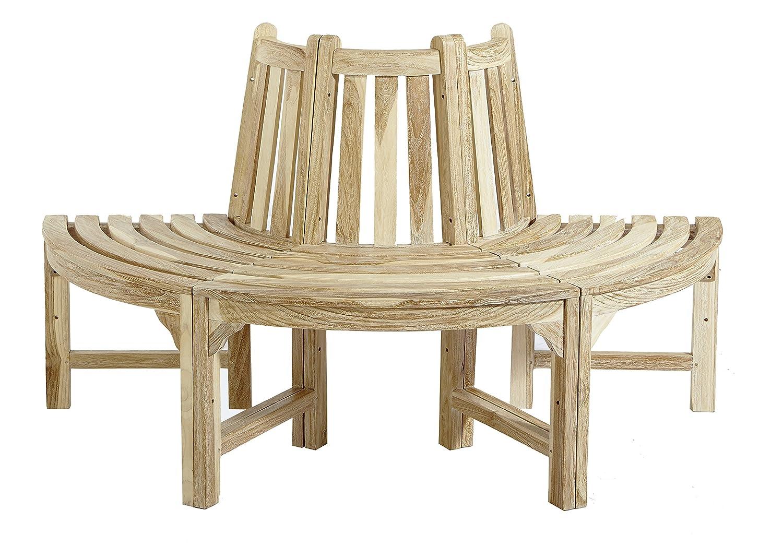 halbe baumbank aus teakholz massivholz teakbank holzbank gartenbank ca 150 cm breit white wash. Black Bedroom Furniture Sets. Home Design Ideas
