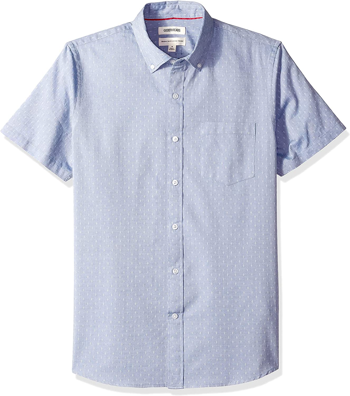 Goodthreads Camisa dobby de manga corta y corte est/ándar para hombre Marca