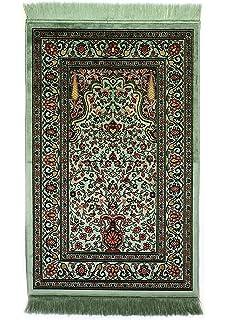Islamic Prayer Rug Muslim Islam Seccade Namaz Velvet Quality Fabric Sajadah