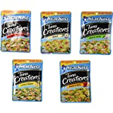 Starkist Tuna Creations Variety Bundle, Single Serve 2.6-Ounce Pouch (Pack of 5) includes 1-Pouch Sweet & Spicy + 1-Pouch Hickory Smoked + 1-Pouch Herb & Garlic + 1-Pouch Ranch + 1-Pouch Lemon Pepper