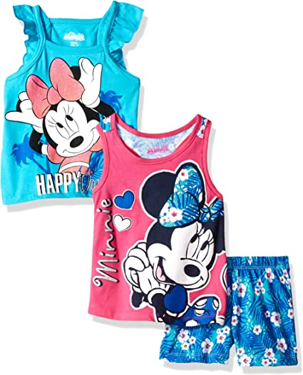 Disney Baby Girls Minnie 3 Piece Short Set