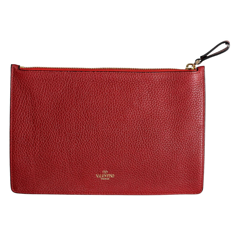 033dca83477 Valentino Garavani Women's Red 100% Leather Rockstud Small Clutch Bag:  Handbags: Amazon.com