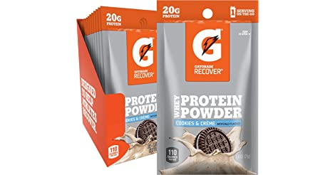12-Pack Gatorade Whey Protein Powder Single Serve Pouches