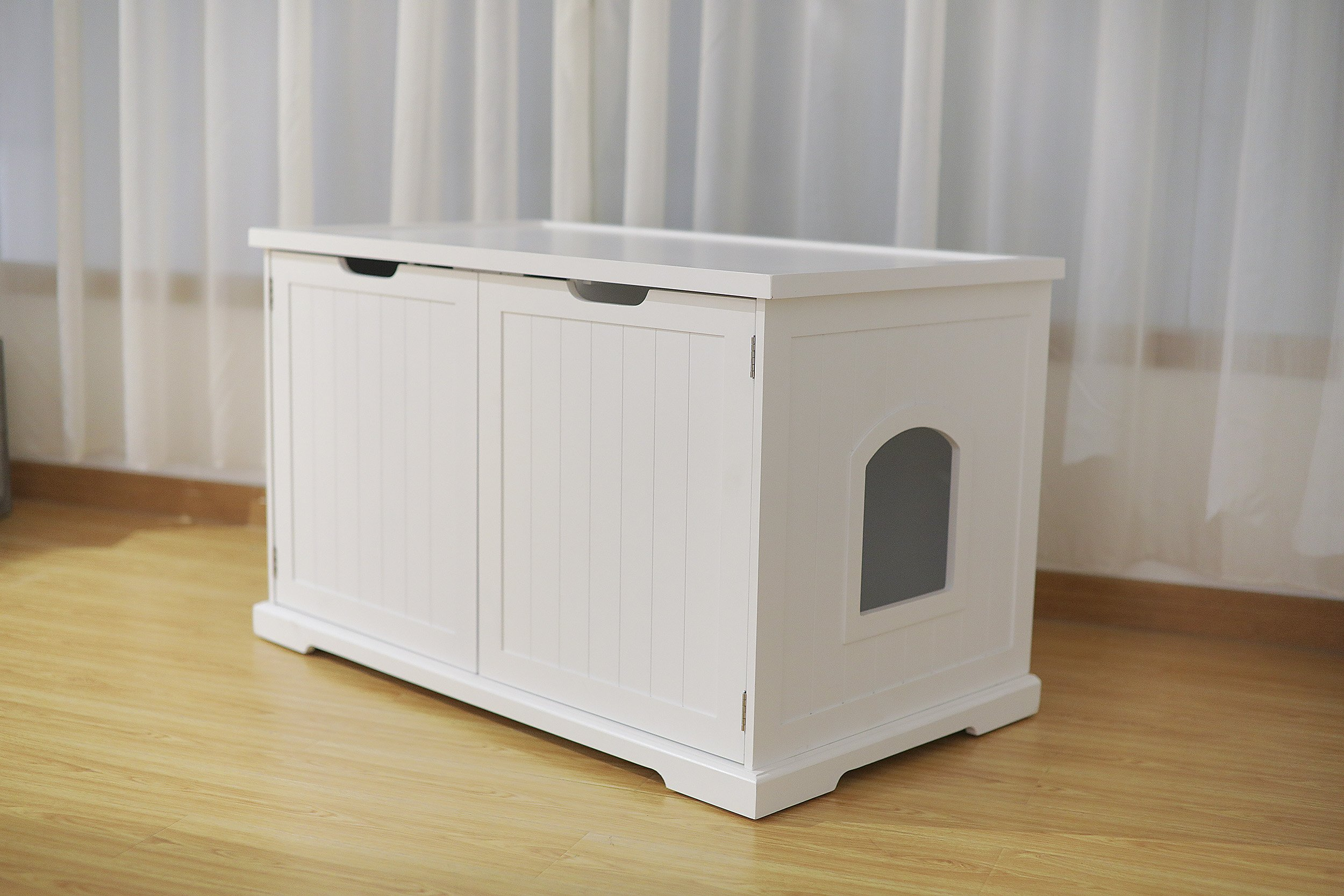 Merry Products Cat Washroom Bench, White by Merry (Image #5)