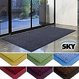 Zerbino casa pura® linea Sky | Grigio | Antiscivolo | Colori brillanti | Impermeabile | Interno/Esterno | 50x85 cm