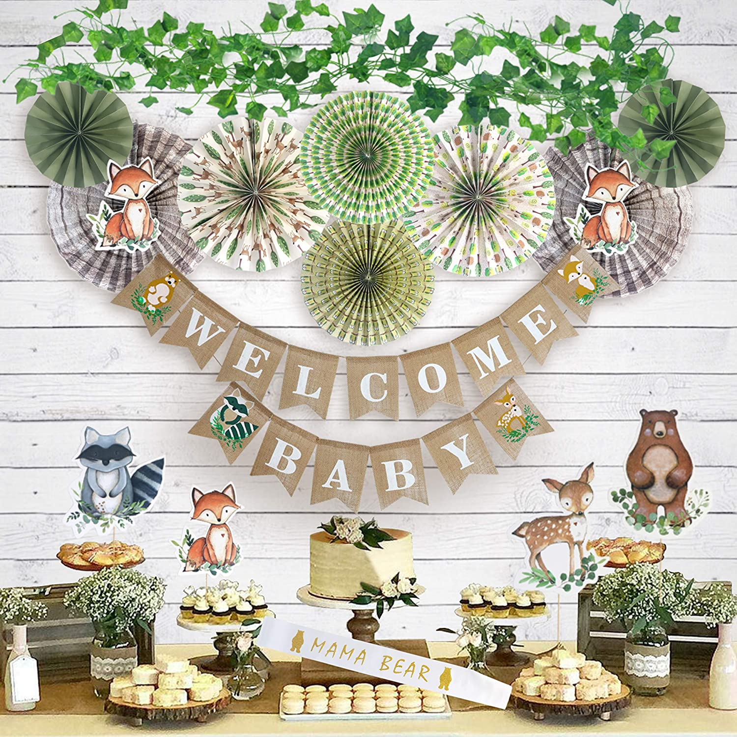 Woodland Animal Baby Shower Decorations for Forest Animal Party Supplies