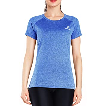d3af75521294eb Ogeenier Women s Sports Quick-Dry Short Sleeve T-Shirt Fitness Gym Running  Yoga Tee