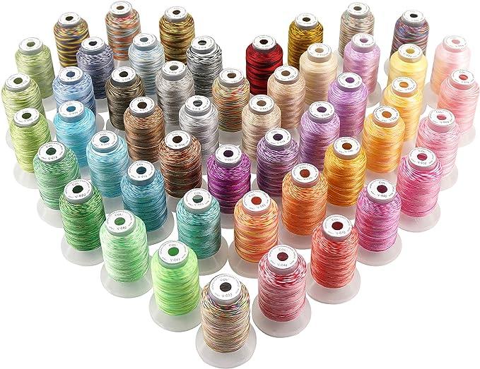 New brothread 50 Multi Colores 500M(550Y) Poliéster Bordado ...