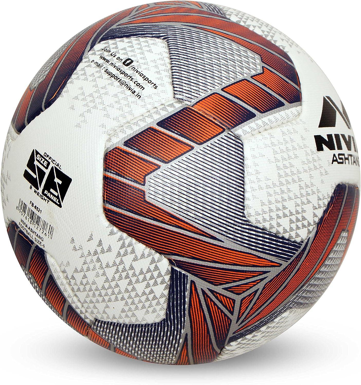 Nivia Ashtang - Balón de fútbol (Talla 5), Color Blanco, Negro y ...