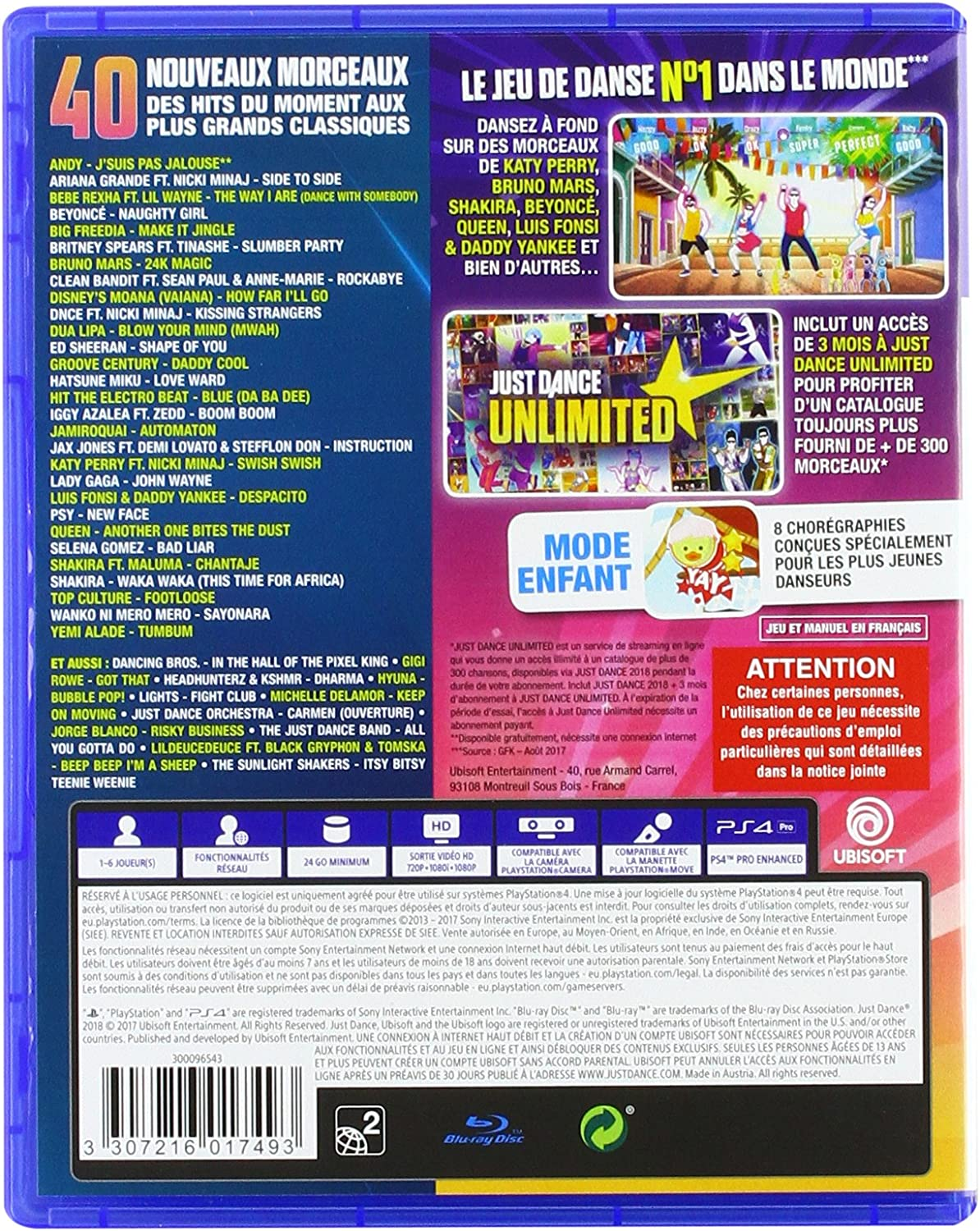 Just Dance 2018 - PlayStation 4 [Importación francesa]: Amazon.es ...