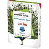 Hammermill Glossy Paper, Laser Gloss Copy Paper, 8.5 x 11 - 1 Pack (300 Sheets) - 94 Bright, Made in the USA Glossy Printer P