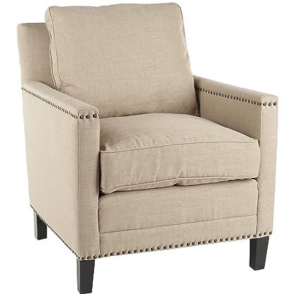 Safavieh Buckler Arm Chair Straw Espresso