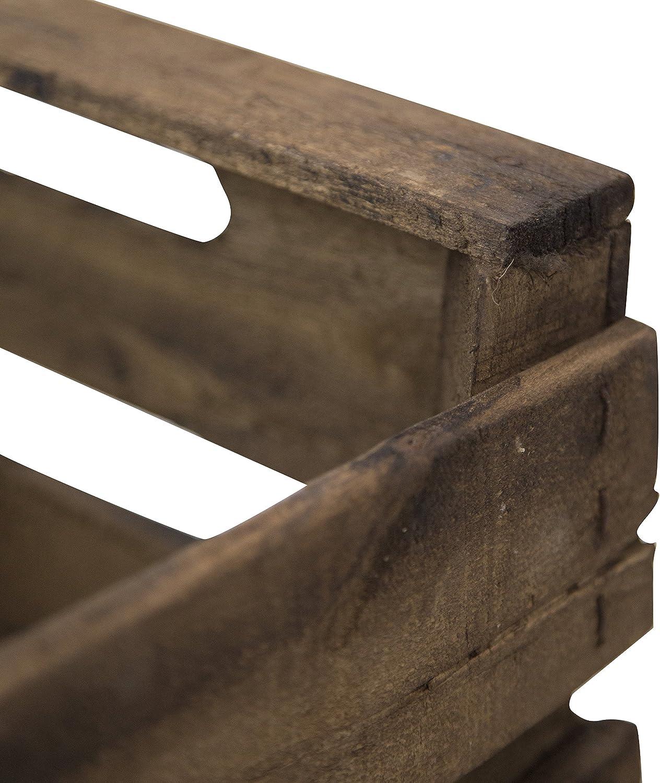 Decowood Pack 6 Cajas en Madera Antigua, Acabado Envejecido, 49x31x35cm, Marrón, 49x35x31 cm, 3 Unidades: Amazon.es: Hogar