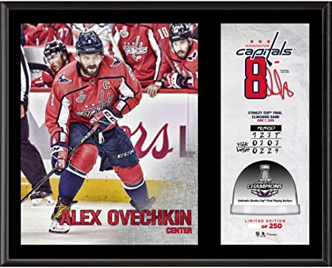 8e7cb418994 Alex Ovechkin Washington Capitals 2018 Stanley Cup Champions 12   x 15    Sublimated