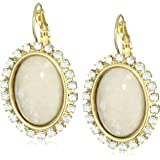 "Liz Palacios ""Crystales Opalos"" Cabochon and Crystal Earrings"