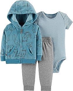 Carter's Baby Boys` 3-Piece Little Jacket Set, Blue Dog, 6 Months