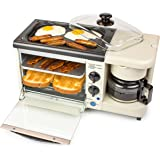 Nostalgia BSET100BC 3-in-1 Breakfast Station, Bisque