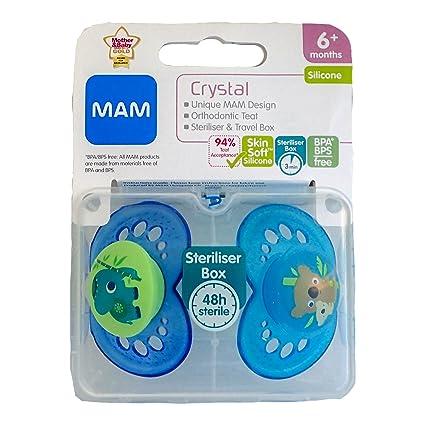 MAM Crystal: 2 x Chupetes 6m+ (Elefante/Koala Bear): Amazon.es: Bebé