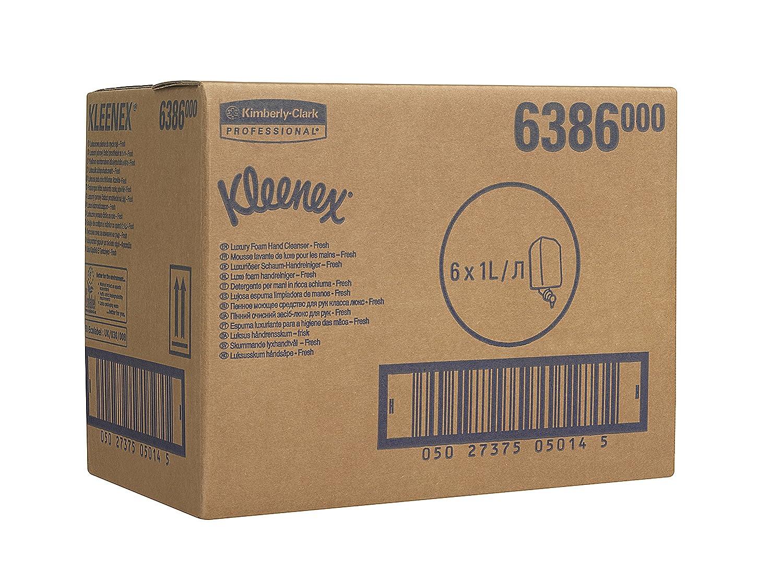 KLEENEX* FRESH Gel de Manos en Espuma (código 6386) 6 estuches, 1 litro - Verde: Amazon.es: Industria, empresas y ciencia