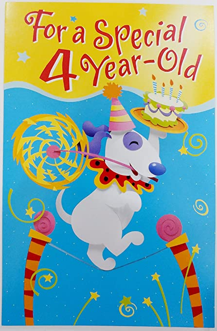 Amazon For A Special 4 Year Old Happy Birthday Greeting Card