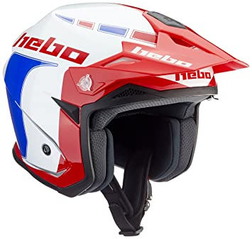 HEBO HC1115AXXL Trial Zone 5 Like Casco, Azul, XXL