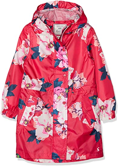 78e3fb4ce0ff Amazon.com  Joules Kids Womens Printed Packaway Raincoat (Toddler ...