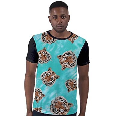 494106b7e All Over Print Sublimation T Shirt Graphic Tees Mens Floating Tiger Faces  3D T-Shirts: Amazon.co.uk: Clothing