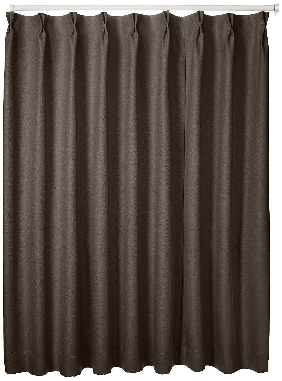 ブリーズ 1級遮光防炎遮熱カーテン 2枚入 巾150cmX丈178cm ブラウン B00B16Z1HO 150X178|ブラウン ブラウン 150X178