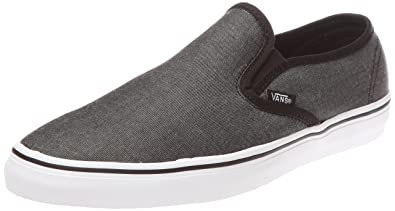 17289e54 Amazon.com | Vans Classic Slip-on LP Slip chambray black/true white ...