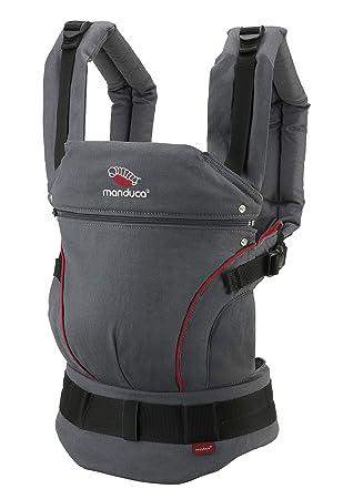 manduca First Special Edition 2018 > Hemp Cotton Grey/Red < portabebés con ergonómicas Cinturón & Espalda patentado garantía/vientre cadera y la ...