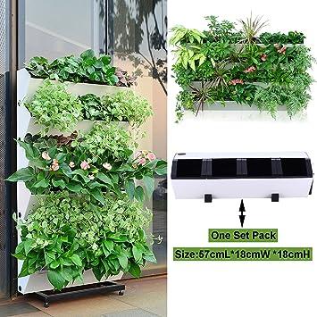 Maceta con sistema de autorriego para jardín vertical, de Green Sun ...