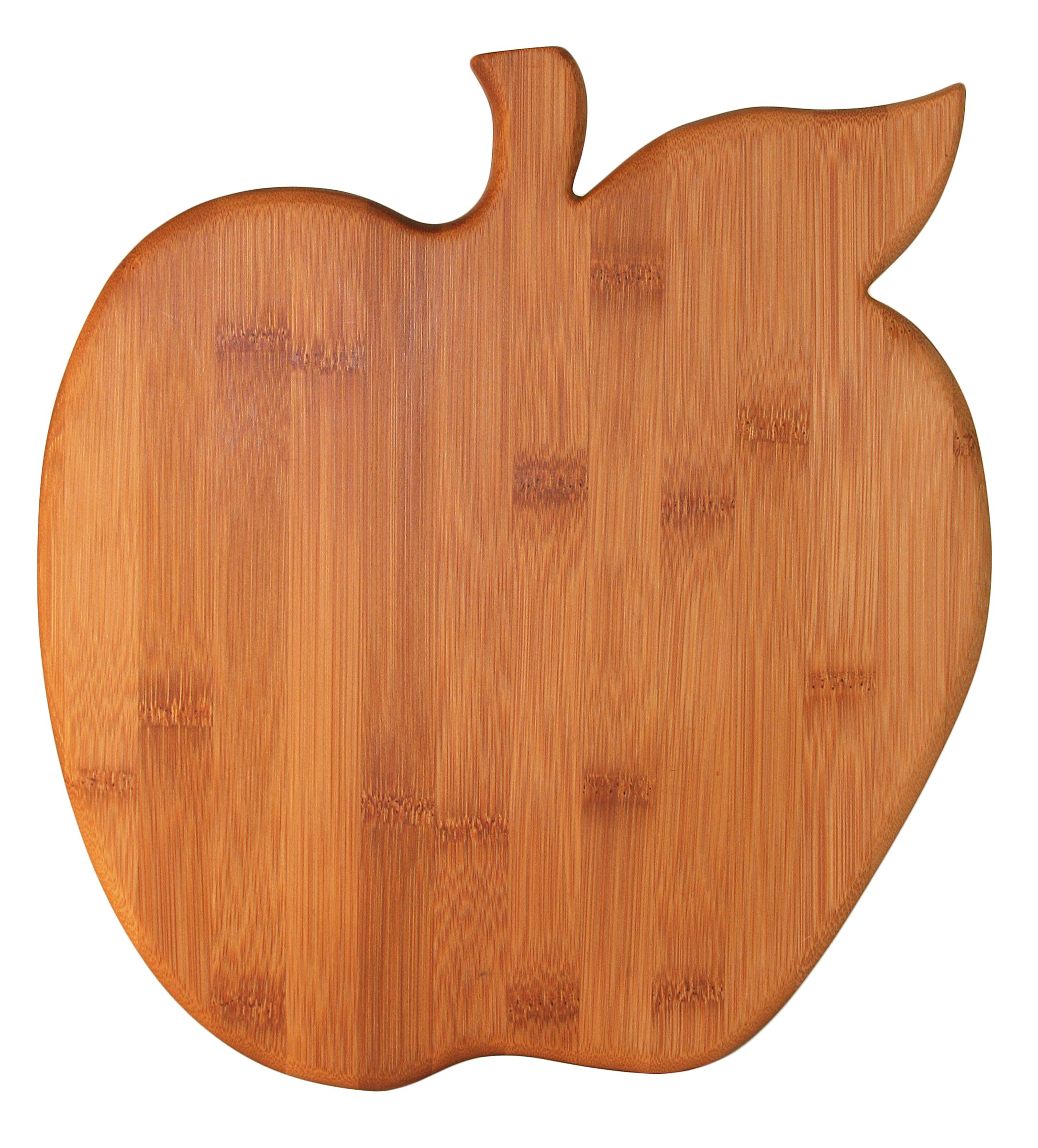 Totally Bamboo Big Apple Shaped Bamboo Cutting & Serving Board, 12'' by 12''