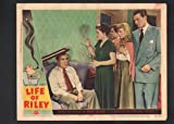 MOVIE POSTER: Life of Riley Lobby Card-1949-William Bendix