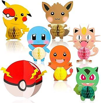 Amazon.com: Ticiaga Pikachu recuerdos de fiesta, 7 piezas de ...