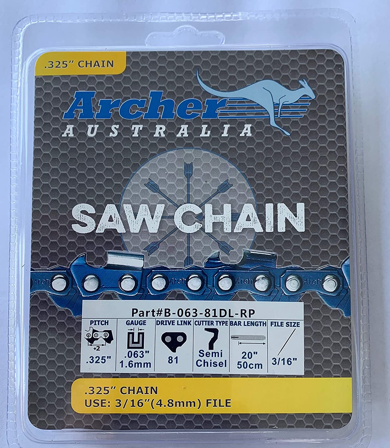 """20/"""" .325-063-81DL Ripping Chainsaw Chain replaces Stihl MS280 MS290 K3C-RP-81E"""