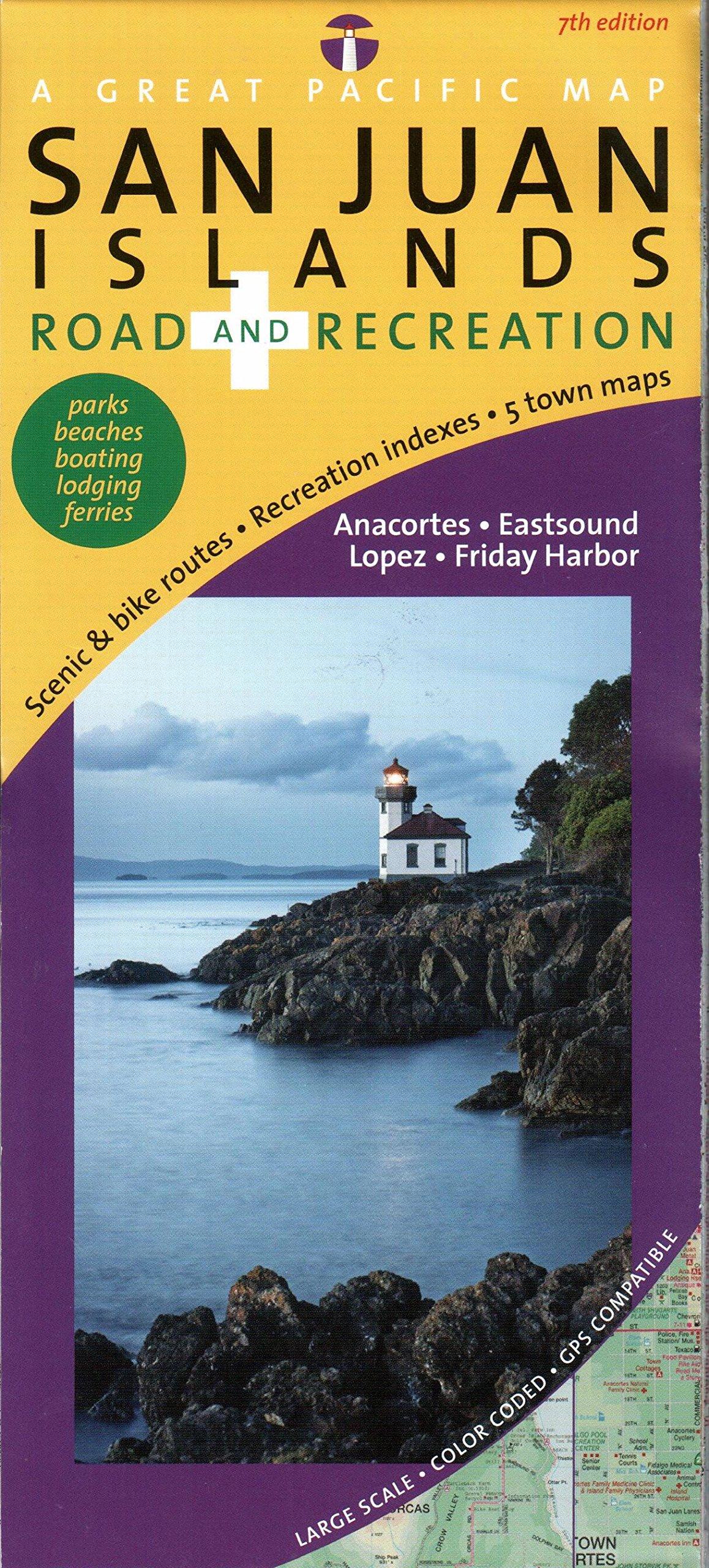 Read Online San Juan Islands Map, Road & Recreation, 7th Edition pdf